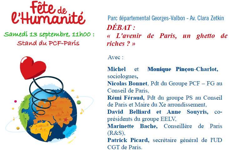 Débat Fête Humanite 2014
